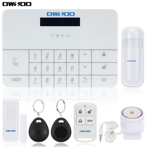 OWSOO Wireless LCD GSM & SMS RFID-Touch Tastatur Home Haus Sicherheit Einbrecher Intruder Alarm System Auto Dialer