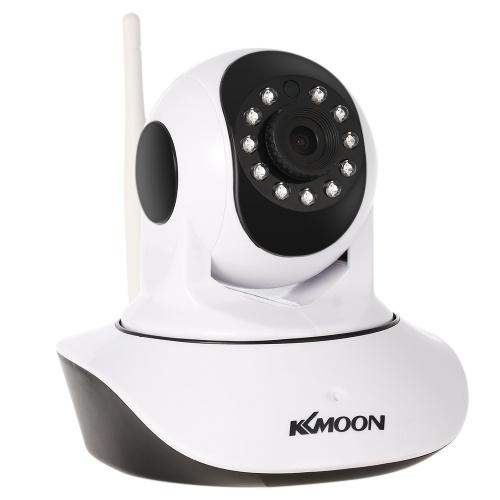 """Segunda Mão KKmoon 720 P Sem Fio WI-FI Pan Tilt HD IP Câmera 1.0MP 1/4 """"CMOS Lente de 3.6mm Suporte PTZ em Dois sentidos Áudio Night Vision Telefone APP Controle Detecção de Movimento com Sensor de Temperatura & Umidade"""