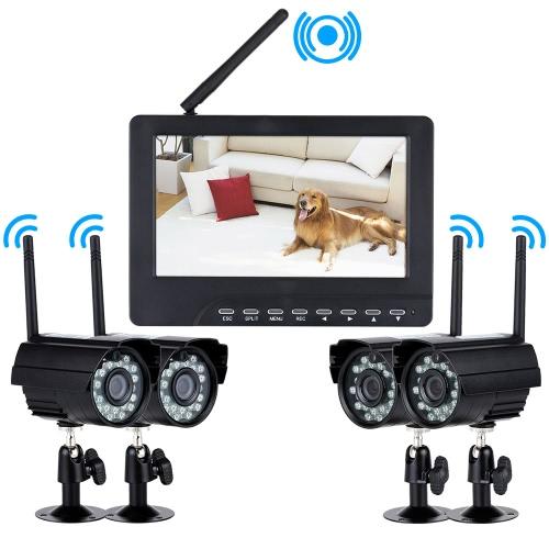 4 Kanal Digital Wireless DVR Sicherheitssystem
