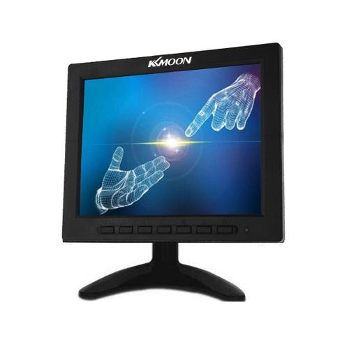 KKmoon 8 Zoll TFT LCD Farb Videomonitor VGA BNC AV Input für PC CCTV Sicherheit Remote und Stand & Dreh Bildschirm