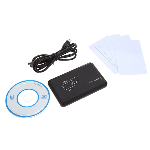 USB 125Khz EM4305 T5577 ID Card Reader/Writer Copier Read EM4100 Card with 5PCS Writable Cards