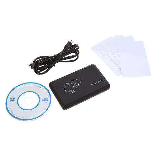 125Khz EM4305 T5577 ID cartão leitor/escritor copiadora leitura EM4100 placa USB com cartões Writable 5PCS