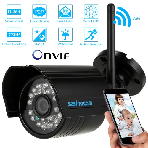 szsinocam H.264 720P Wireless Wifi IP Camera CCTV Security ONVIF Waterproof Night Vision Motion Detection Home Surveillance