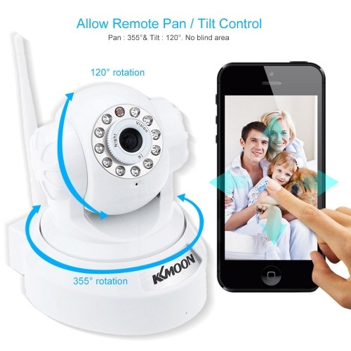 Seconda mano KKMOON 720P HD H.264 Telecamera 1MP PnP P2P AP Pan Tilt IR Cut WiFi Rete IP wireless Webcam