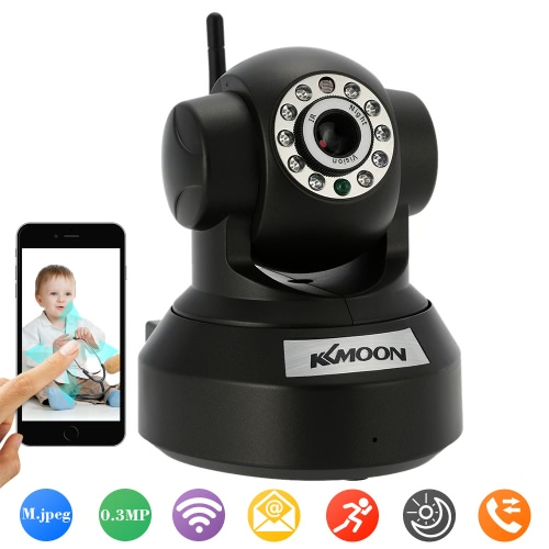 KKmoon 0.3MP Camera P2P Pan Tilt IR WiFi Wireless Camera