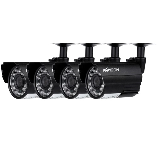 KKmoon 4pcs AHD 720P Weatherproof CCTV Cameras Kit IR CUT Color CMOS Home Security System 3.6mm