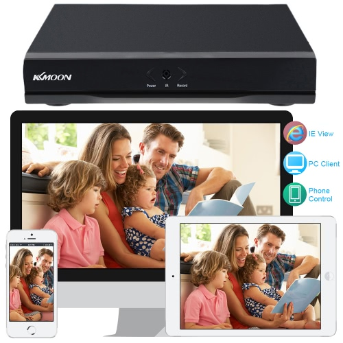 KKmoon® 4CH Channel Full 1080N/720P HDMI P2P Cloud Network Digital Video Recorder