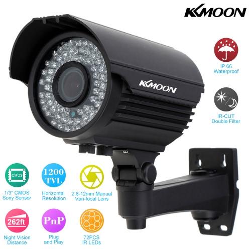KKmoon® TP-E225iRE Zoom Varifocal Überwachungskamera Wasserdichte Outdoor CCTV Kamera 1/3