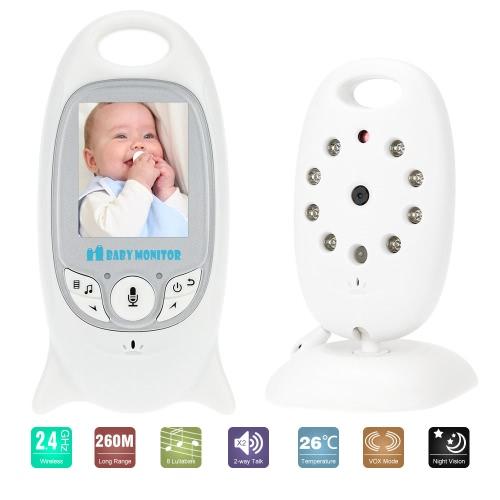 VB601 Baby Monitor 2,0 In LCD 2.4GHz Wireless mit 8iR gestartet LED bidirektionale Talk 8 Schlaflieder Temperatur Monitor VOX-Modus
