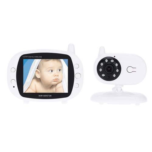 KKmoon 3,5 Zoll Baby Monitor Kamera 2.4GHz Wireless mit 8 IR LED Zwei Wege Gegensprechanlage 3 Schlaflieder Temperatur 850