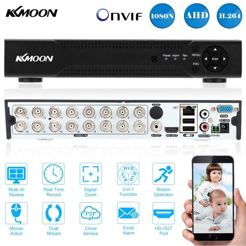 KKmoon® 16CH  Full 1080N/720P AHD DVR P2P Cloud Network Onvif Digital Video Recorder
