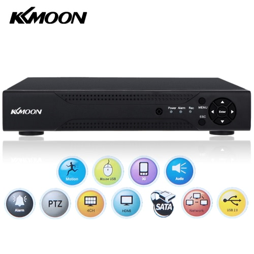 KKmoon 4 Channel 1280*720P CCTV Network DVR H.264 HDMI Home Security System Alarm Email