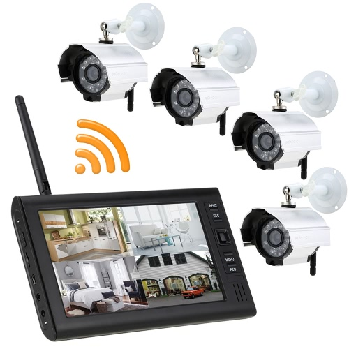 KKmoon 2.4GHz Wireless 4CH DVR Kit 7