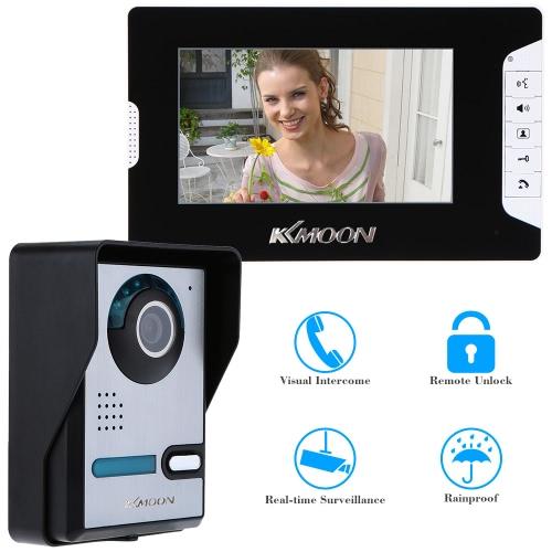赤外線ナイト ビジョン防雨ホーム セキュリティ 7」ビデオドア電話 TFT 液晶画面のロックを解除します。