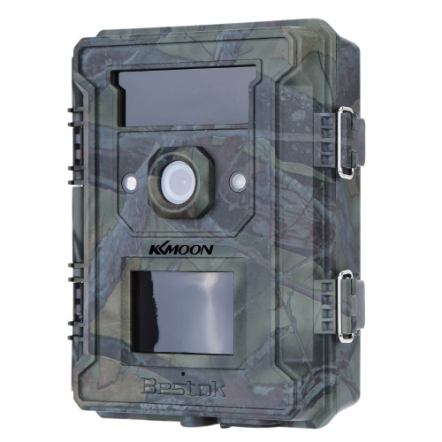 KKmoon 12MP Trail Camera 120° Wide Angle Portable Game Cameras Wildlife Scouting Camera Hunting Camera Video Recorder HD Digital Infrared IR 2.4inch LED Screen Waterproof Security Camera With 8G SD Card
