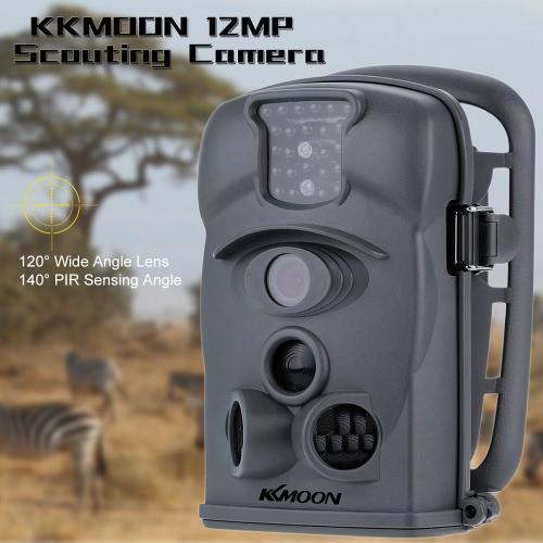 KKmoon 12MP 1080P 120 ° Weitwinkel HD 850nm 24pcs IR wasserdichte Kamera Sicherheitskamera Spiel Pfadfindertum Jagd Spuren Kamera mit 8G SD Karte