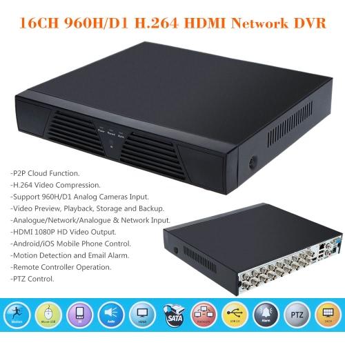 16CH 960H/D1 CCTV DVR Video Recorder Standalone Onvif H.264 HD Motion Detection PTZ Control
