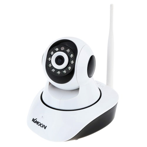KKmoon Wireless Wifi 720P HD H.264 P2P 1MP AP IP CCTV Network Home Surveillance IR Security Camera P/T Webcam with TF Card Slot