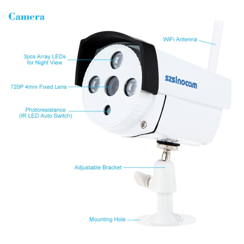 szsinocam 4CH HD 720P H 264 NVR Kit 4pcs IP Camera with Win8 UI and Touch  Panel Security System