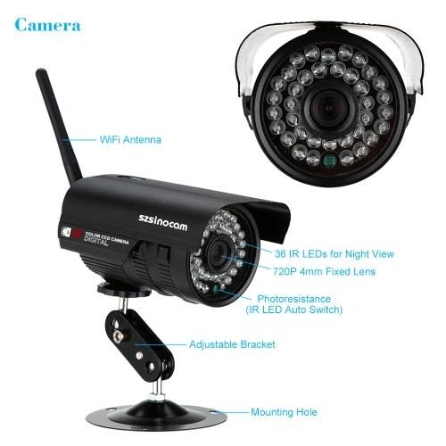 Second Hand szsinocam 4CH HD 720P H.264 NVR-Kit mit 4 Stück IP-Kamera 36IR LEDs Sicherheitssystem