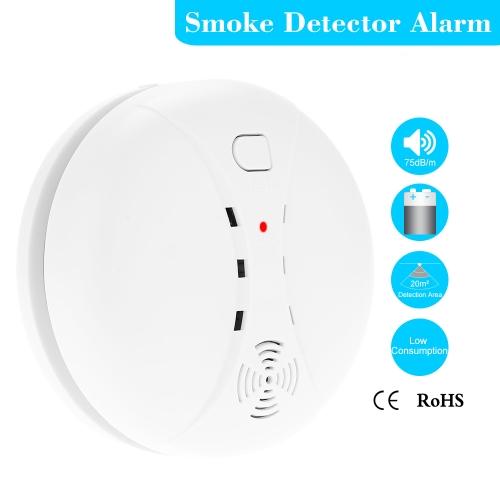 Detector de fumaça fotoelétrico sem fio alta estável alarme sensível Sensor Monitor para segurança em casa