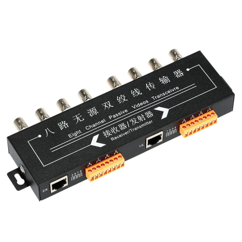 8 Channel Passive UTP Video Balun Transceiver / Receiver CCTV CAT 5/5E/6 twisted pair