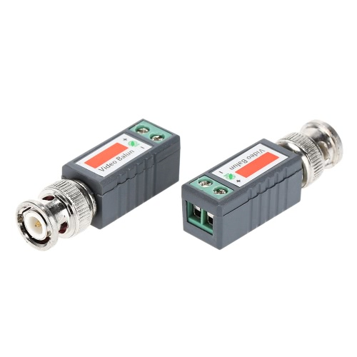 1 Paar (2ST) UTP Video Balun Koax CAT5 an CCTV-Kamera BNC Passive Transceiver