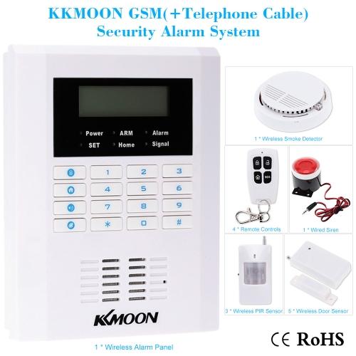 KKmoon drahtlose 433MHZ GSM PSTN SMS Hause Einbrecher Sicherheit Alarm System Detektor Sensor Kit-Fernbedienung