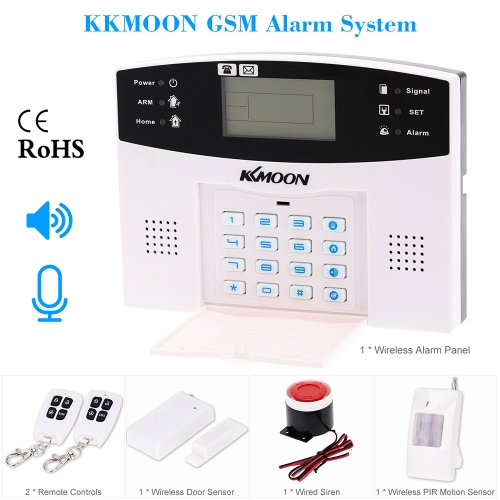 KKmoon Wireless GSM SMS Home Einbrecher Sicherheit Alarm Melder Sensor Mobile Systemaufruf 433MHZ