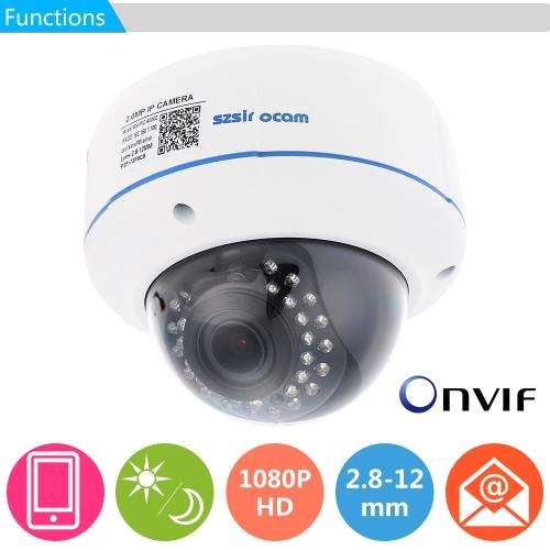 Szsinocam h. 264 HD 1080p 2,8-12mm 4 X digitaler Zoom IP Kamera mit 30st IR LEDs CCTV Sicherheit