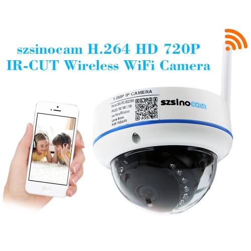 Szsinocam h. 264 HD 720p WiFi Megapixelkamera mit 15st IR LEDs CCTV Sicherheit
