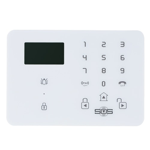 Wireless GSM SMS Home Security-Alarm-System mit LCD-Bildschirm SOS-Hilfe für Android Phone Control K9 Altenhilfe