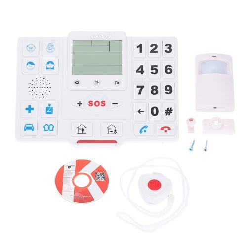 KKmoon® Wireless GSM SMS Home Security Alarmanlage mit LCD-Bildschirm SOS für Android Phone Control T2 Altenhilfe