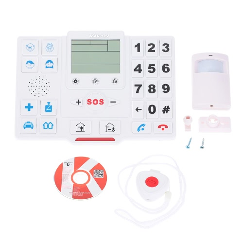 KKmoon Wireless GSM SMS Home Security Alarmanlage mit LCD-Bildschirm SOS für Android Phone Control T2 Altenhilfe