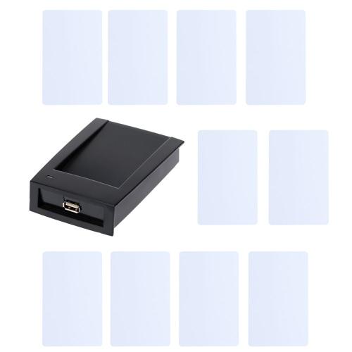 RFID 13,56MHz Nähe-intelligente IC-Kartenleser + 10ST IC Karten