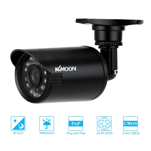KKmoon® 800TVL Bullet CCTV Security Camera Waterproof IR-CUT Day/Night Vision Home Surveillance NTSC System