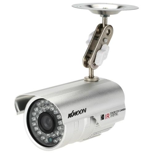 """Segunda Mão KKmoon HD 1200TVL Câmera de Vigilância de Segurança CCTV Night Vision Outdoor À Prova D 'Água 1/3 """"CMOS IR-CUT Sistema NTSC"""