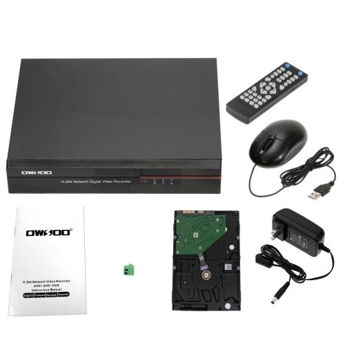 Canal OWSOO 8CHS de seconde main Complet 960H / D1 H.264 HDMI Réseau P2P Cloud DVR Enregistreur vidéo numérique + 1 To Support de disque dur Seagate Enregistrement audio Contrôle du téléphone Contrôle de mouvement Détection de mouvement E-mail Alarme PTZ pour CCTV Système de surveillance par caméra de sécurité