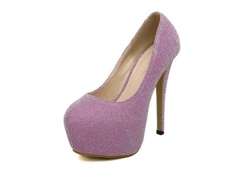 Corte de nuevo las mujeres tacones Color caramelo plataforma único talón acentuado bajo bombas rosa
