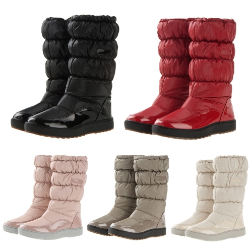 Winter Women Boots Japanned Leather Waterproof Snow Boots Flat Warm Padded Shoes