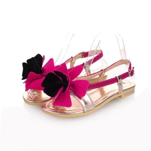 Moda verano mujeres planas sandalias Slingback zapatos Flats