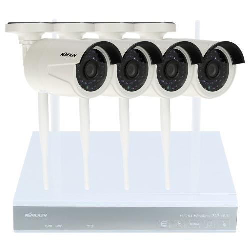 KKmoon® 4CH Channel HD Video Recorder + 4pcs Megapixels IP Camera
