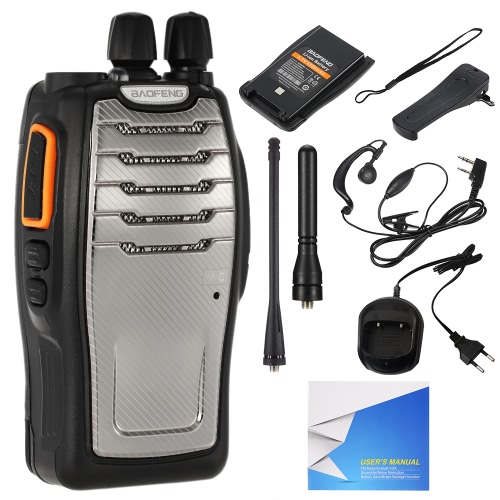 BaoFeng® 16CH FM UHF 400-470MHz Talkie Walkie-Transceiver 2-Wege-Radio Tragbare Handinterfon Long Distance 4200mAh Batterie-Taschenlampe