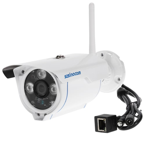 szsinocam 1080P drahtloses WIFI HD IP-Kamera Bullet 2.0MP 3 Array IR LED 1/3 '' CMOS 4mm Objektiv H.264 P2P wasserdichte Unterstützung Nachtsicht Motion Detection Telefon APP-Steuerung für CCTV Sicherheit