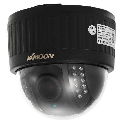 "KKmoon 720P Wireless WIFI Dome PTZ HD IP Camera 2.8~12mm Auto-Focus Manual Varifocal Zoom Lens 1.0MP 1/3"" CMOS 22pcs IR Lamps IR-CUT"