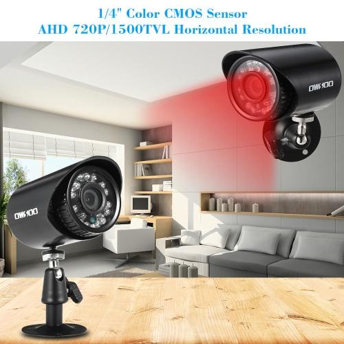 OWSOO 4*720P 1500TVL AHD Waterproof CCTV Camera + 4*60ft Surveillance Cable