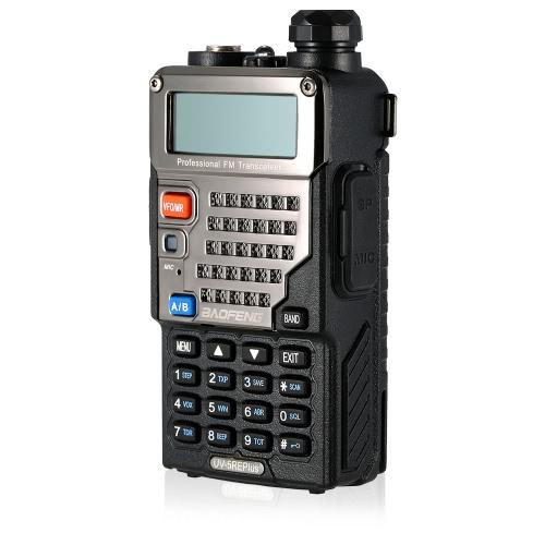 BaoFeng 128CH Dual Band VHF 136-174MHz & UHF 400-520MHz Talkie Walkie Transceiver 2-Wege-Radio Portable Handheld Wasserdichte Interphone lange Distanz 1800mah Akku