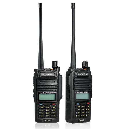 BaoFeng 128CH Dual Band VHF 136-174MHz & UHF 400-520MHz Talkie Walkie Transceiver 2-Wege-Radio Portable Handheld Wasserdichte Interphone-Taschenlampe
