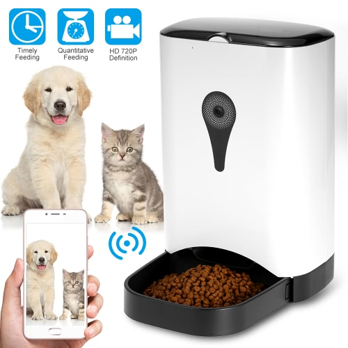 Automatic Pet Feeder Food Dispenser with Video Monitoring
