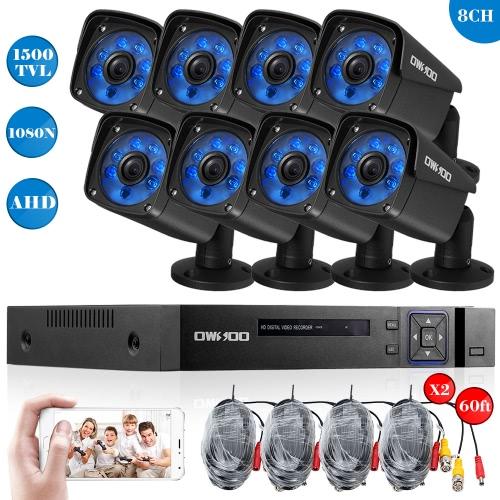 OWSOO 8CHチャンネルフルAHD 1080N 1500TVL CCTV監視DVRセキュリティシステム